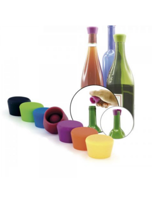 SET 2 TAPONES VINO SILICON PULLTEX